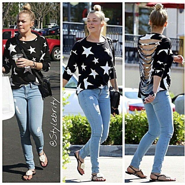 #leannrimes #sweater #jeans #sandals #summer #hot #cold #hair #bun #blonde #countrymusic #song #music #pretty #slim #flats #star #starprint #fashion #style #lookbook #outfit #wear #wear #bun #bag #accessories #ootd... - Celebrity Fashion
