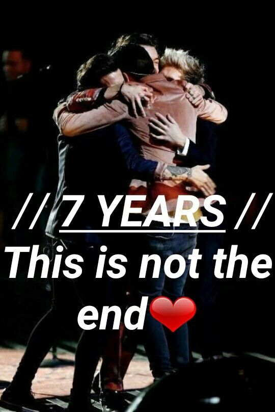 Happy 7 years my 1D loves❤ 7.23.17