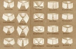 Cols des chemises pour hommes en 1920