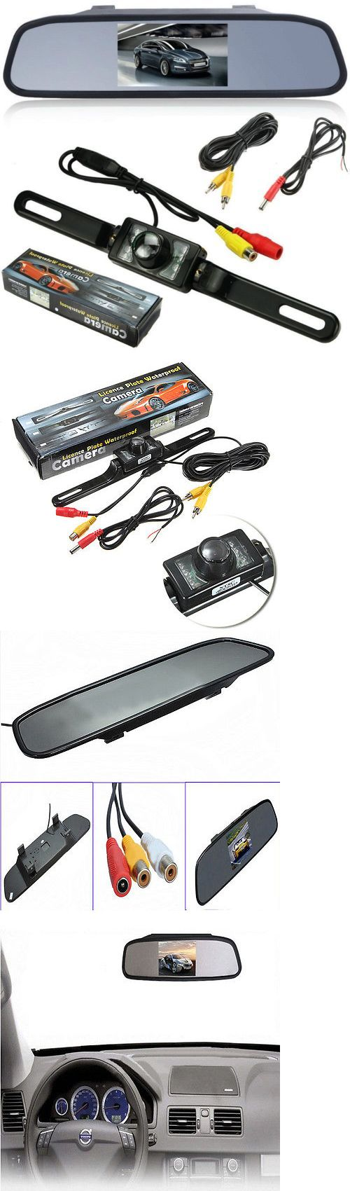 Rear View Monitors Cams and Kits: 4.3 Tft Lcd Rear View Mirror Monitor Led Reverse Car Parking Backup Camera Us -> BUY IT NOW ONLY: $30.8 on eBay!