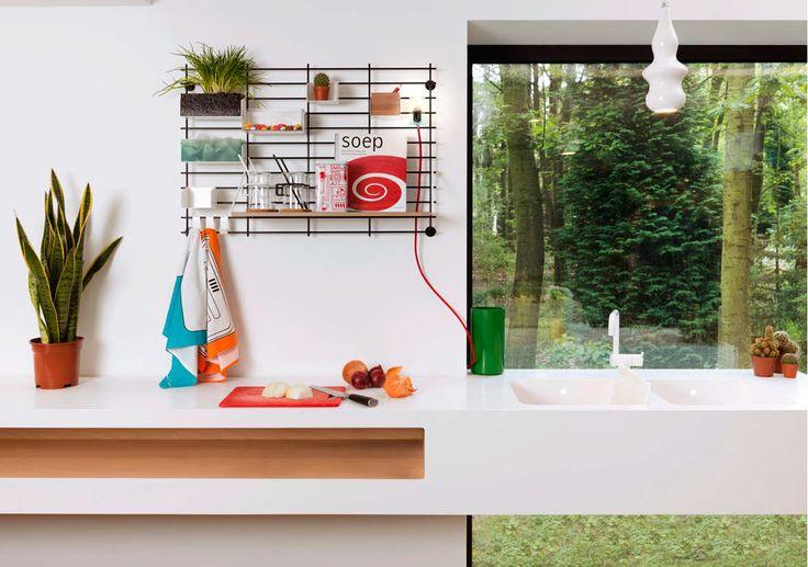 modular kitchen wall organizer stainless rod grid