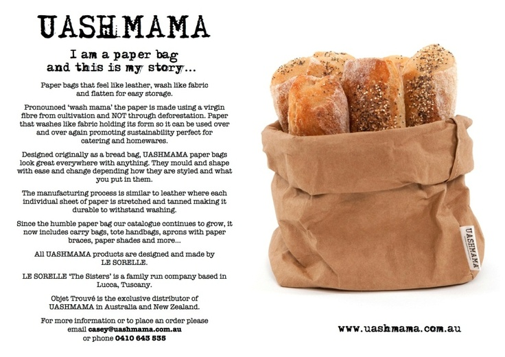 UASHMAMA washable paper bags - who knew!