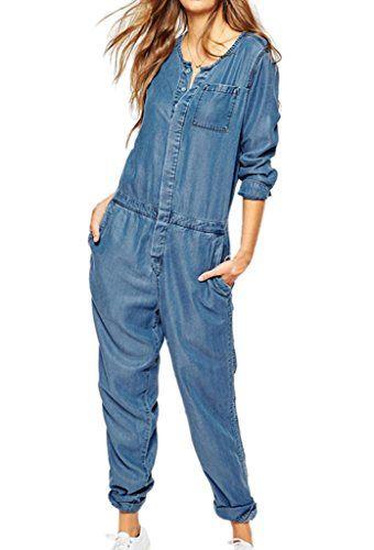 Fashion Lady's Long Sleeve V Neck Denim Romper Jumpsuit Aweids http://www.amazon.com/dp/B010WMYQEG/ref=cm_sw_r_pi_dp_h9T3wb1PS50TW