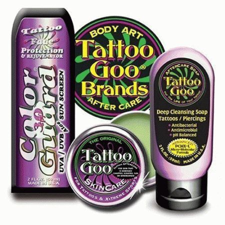 The Tattoo Goo kit was designed to help you to maintain the bright ...