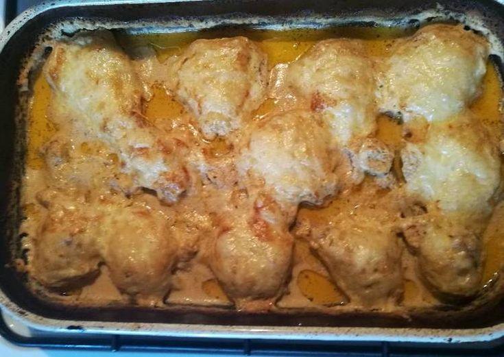 Tejfölben sült csirkecomb