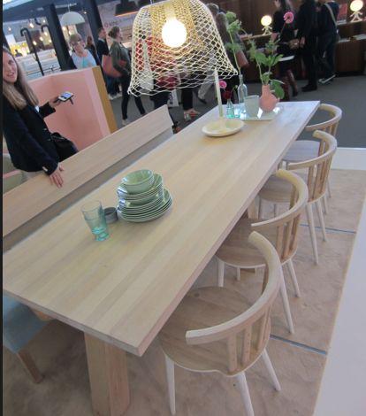 meubelstuk 2 Pilat en Pilat tafel PP-10 240 cm lang , 90 cm breed en 76 cm Hoog in de kleur gezeept eiken prijs: 3689,-