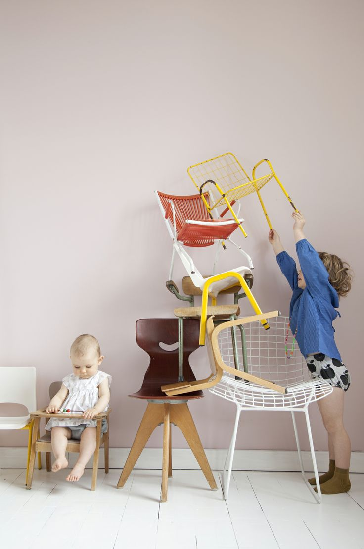 Cute chairs for kids - apple jumper from Bobo Choses by Laia A.