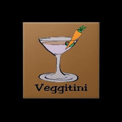 Veggitini: Veggitini, Squares, Tile, Funny Pins