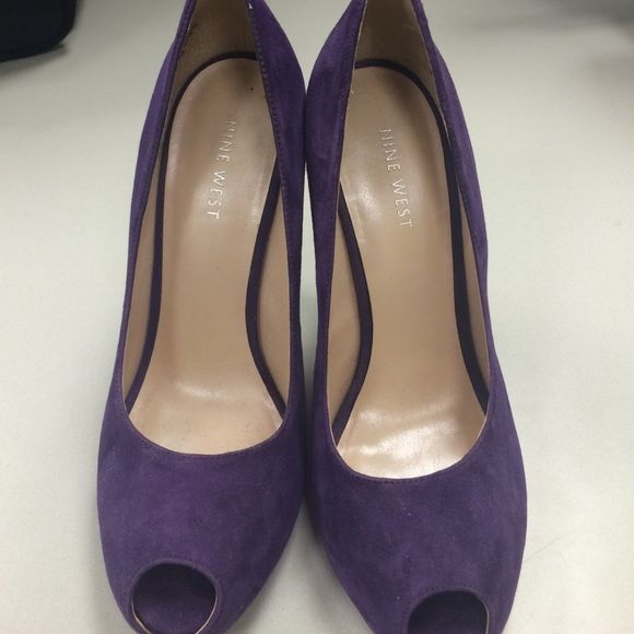 Pretty in purple Hot shoes by Nine West. Never worn only tried on. Nine West Shoes