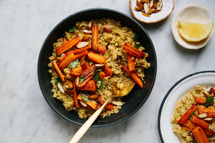 Millet Couscous with Roasted Carrots   Recipe   Protein ...