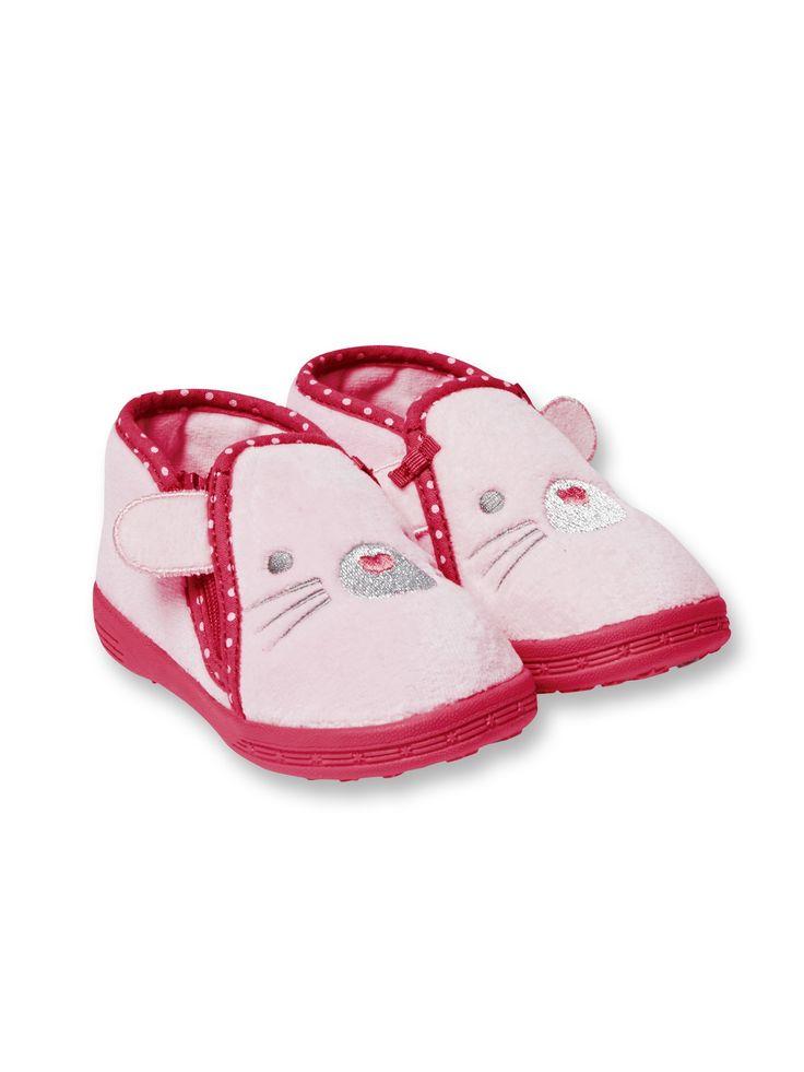 Pantofole a polacchino in velluto - Rosa - Scarpe - Obaïbi e Okaïdi