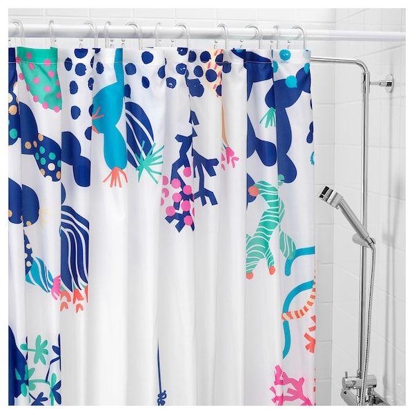 Lasjon Shower Curtain Multicolor 71x71 Shower Curtain Curtains Ocean Shower Curtain