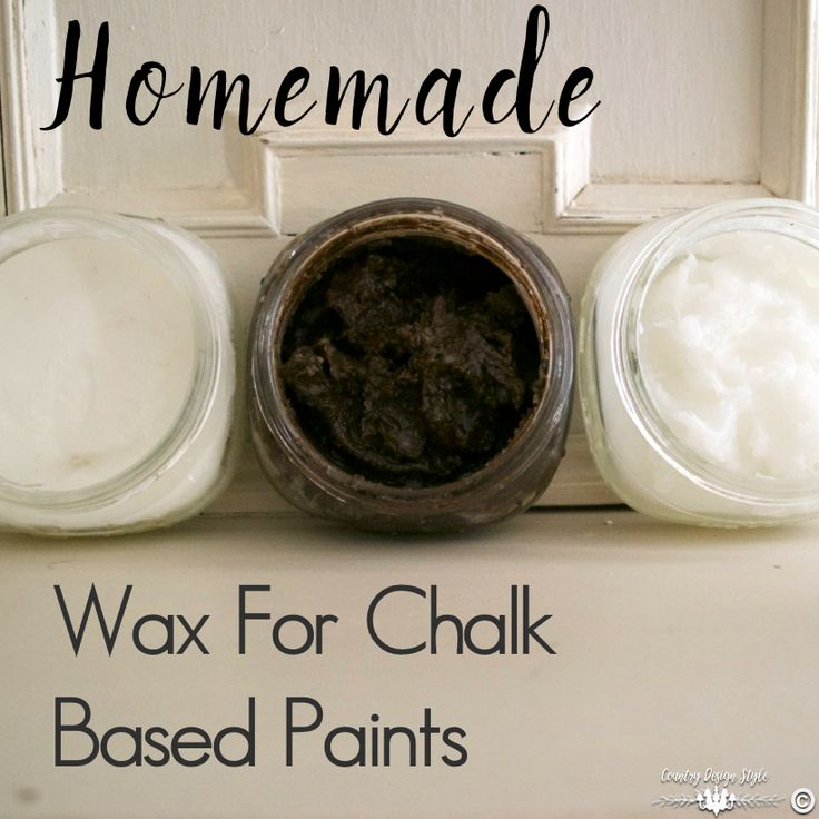 Homemade-Wax-for-chalk-based-paint-recipe | Country Design Style | countrydesignstyle.com