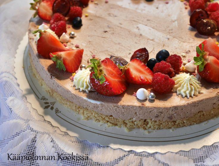 Kääpiölinnan köökissä: Pikainen suklaajuustokakku ilman liivatetta