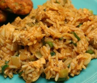 cajun rice.  a nice alternative to the flavored box rice.