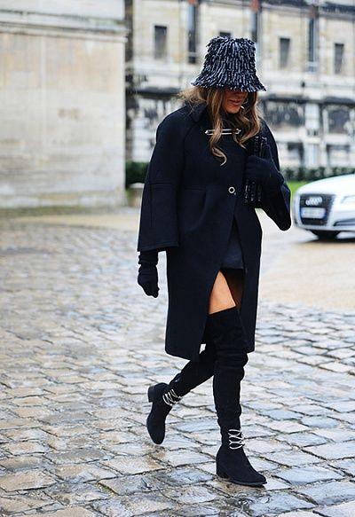 Уличный стиль на Неделе моды в Париже FW'14 - cosmo.com.ua