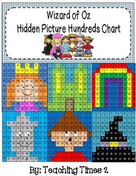Click your heels three times and download the Wizard of Oz Hundreds Chart Fun Pack.  This pack contains 6 hidden pictures of characters and settings taken from this wonderful classic.  Great to use for reinforcing the Math common core standard of numbers to 100, also use during Reading for a characters/setting lesson.