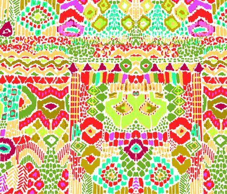 indian summer ikat fall fabric by katarina on Spoonflower - custom fabric
