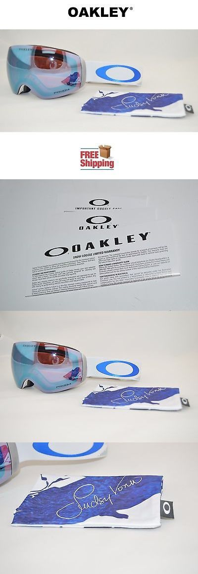 Goggles and Sunglasses 21230: Oakley® Flight Deck™ Xm Prizm™ Snow Board Ski Goggle Lindsey Vonn W Sapphire -> BUY IT NOW ONLY: $210 on eBay!