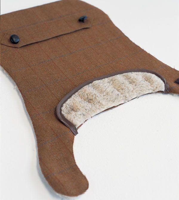 Dog coat pattern tweed-coat