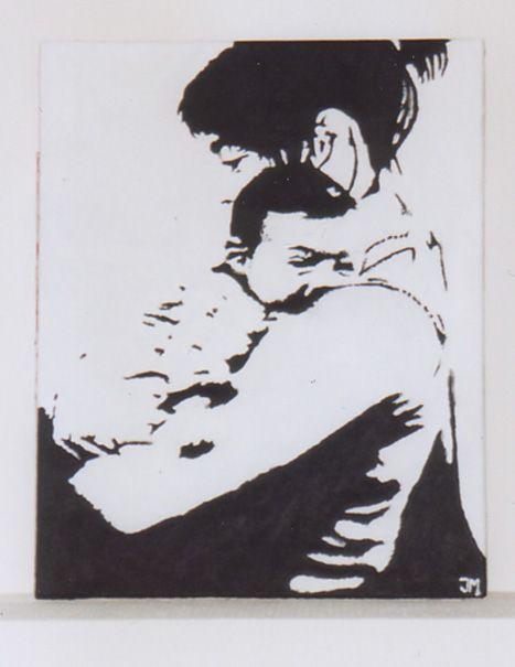 In opdracht: Schilderij van Jesseka en Niek