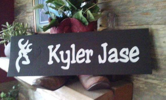 Personalized Name Signs by Country Clutter. This adorable sign was a baby shower gift ... it was her first grand baby :) Congrats Ms. Barbara and welcome little Kyler Jase!!