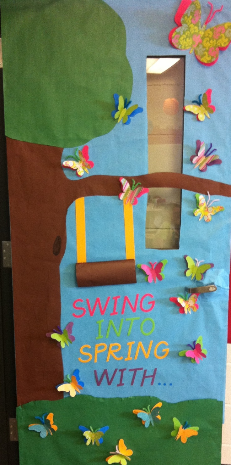 Classroom Decoration Ideas Pdf ~ Swing into spring classroom door decorations pinterest