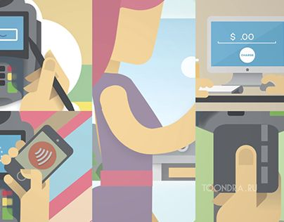 Animated explainer video for Pay Junction smart terminals. Videoinfographics created by Toondra animation studio