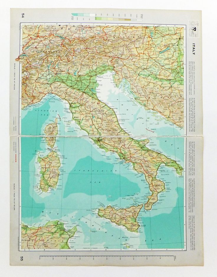 Map of Italy, Very Large Vintage Map, travel souvenir, Italian Map, Italy Map by PeonyandThistlePaper on Etsy https://www.etsy.com/listing/198272232/map-of-italy-very-large-vintage-map