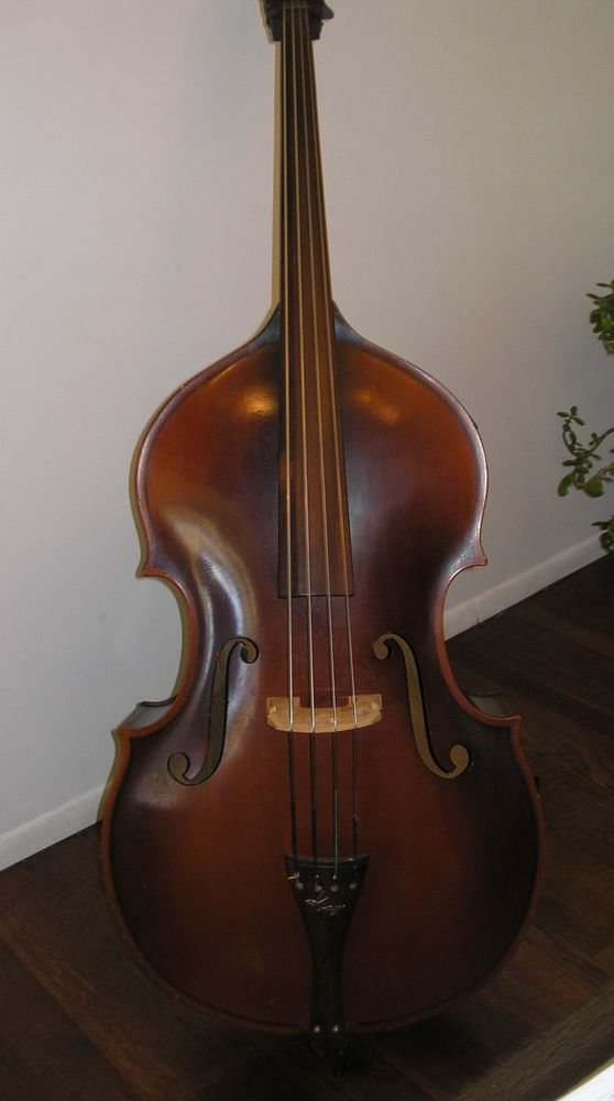 1955 kay upright double bass viol 1 2 size h 10 stand up bass w extras ny nj. Black Bedroom Furniture Sets. Home Design Ideas