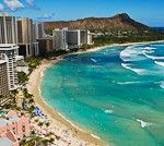 After a long day of flying I am finally right here in Honolulu Hawaii on Waikiki Beach at one of my all-time favorite hotels, the Sheraton Waikiki.