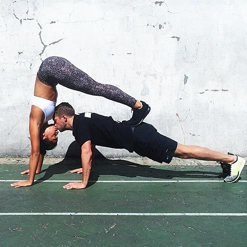The Most Insane Couples Yoga Poses You've Ever Seen | PUCKER UP | Imagine how much more toned your abs would be if you always greeted your significant other like this?