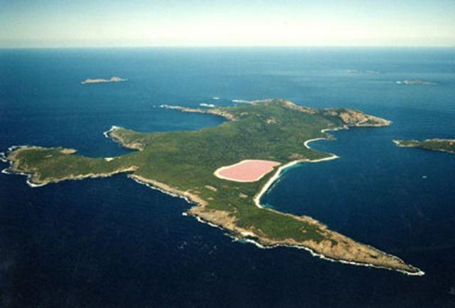 Le lac Hillier, un lac rose en Australie: Pink Lakes, Lakes Hiller,  Headland, Promontory, Beauty Place, Hillier Lakes, Lakes Hillier, Westerns Australia,  Foreland