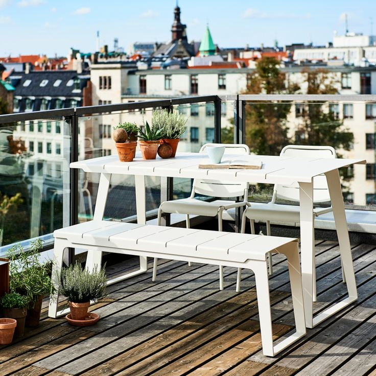 Copenhagen Bench Chairs And Table