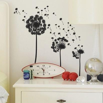 Beau Target : Wall Decal   Make A Wish Dandelion