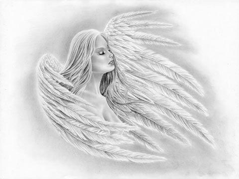 Lerne einen sexy Engel mit Flügeln zu zeichnen