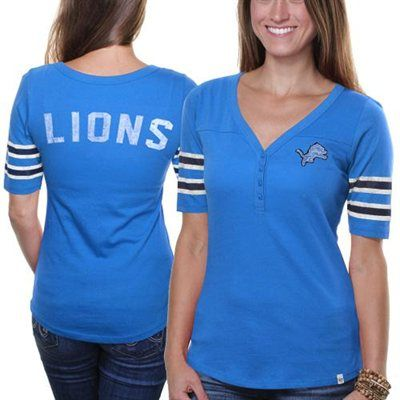 '47 Brand Detroit Lions Ladies Playoff T-shirt - Light Blue