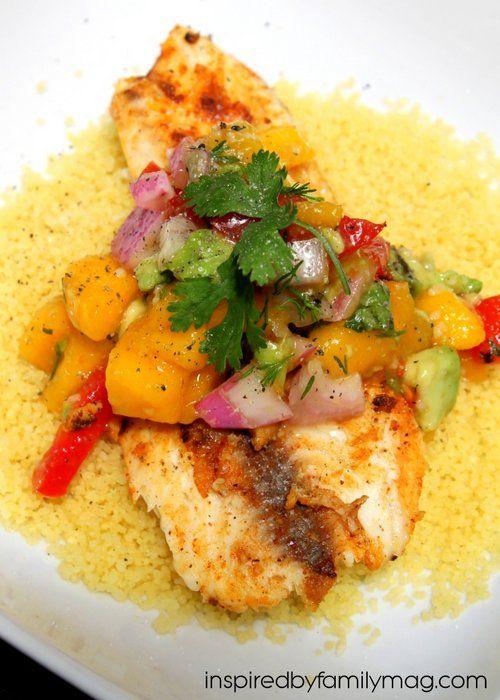 Grilled Tilapia with Mango Avocado Salsa | Grilled tilapia ...