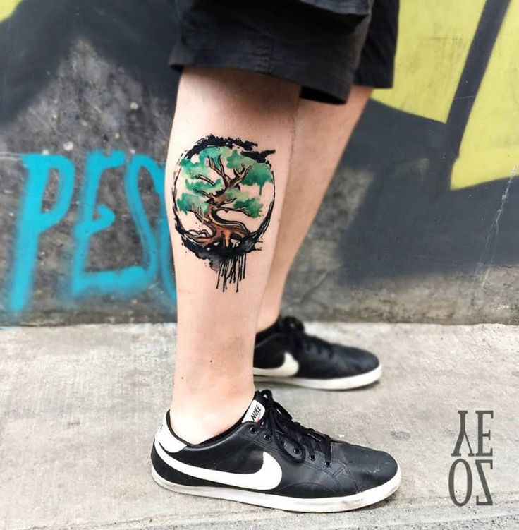Tree of Life Leg Tattoo