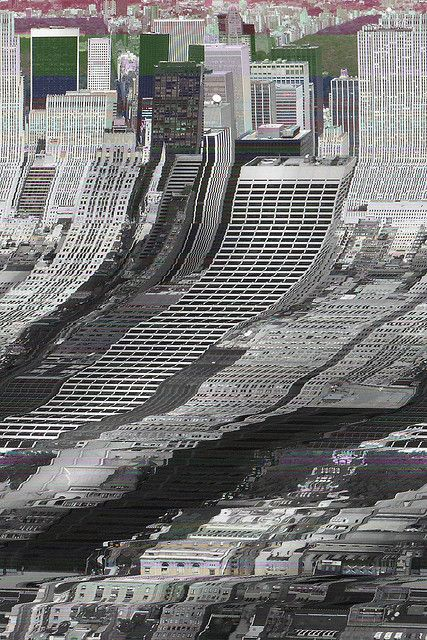 glitch art - the top of this image is ordered as it's the original image and…