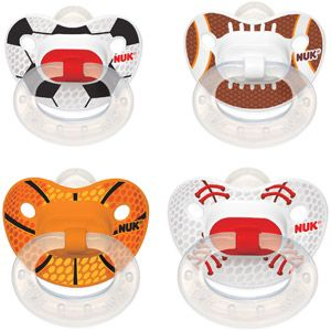 NUK Sports Silicone Orthodontic Pacifiers, 2ct, 6-18 months (Design May Vary)