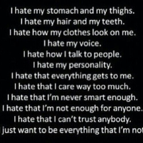 Self Hate Quotes Enchanting 115 Best Self Hateimages On Pinterest  Quote My Life And