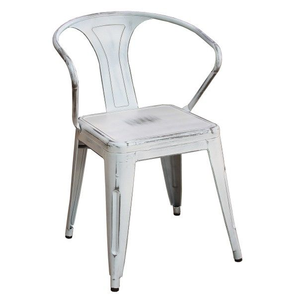 silla replica tolix industrial white - Tiendas On