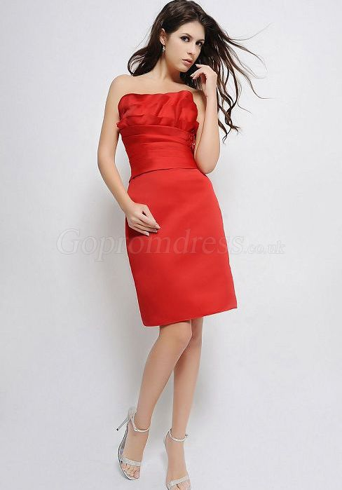 Short Red Bridesmaid Dress....A POSSIBILITY, but with a little bit of a color adjustment.
