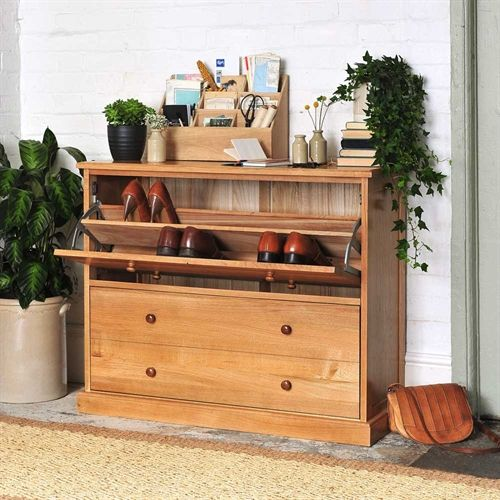 Appleby Oak Shoe Chest (W152) with Free Delivery | The Cotswold Company. Country Furniture, Country Home, Country Style, Oak Furniture, Shoe Storage, Hallway Furniture, House Plants.