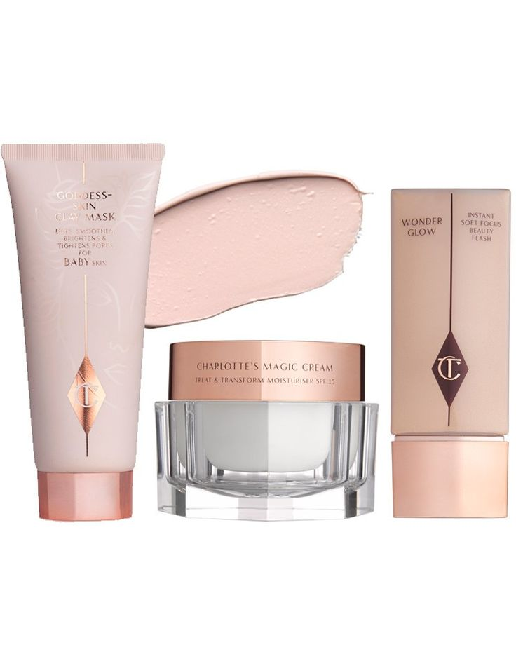 THE GIFT OF GODDESS SKIN: Charlotte Tilbury Wonder Glow, Magic Cream and Goddess Clay Mask