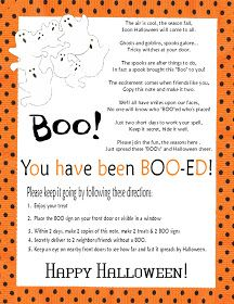Gael's Crafty Treasures: You've Been Booed! (Boo your neighbors Free Printable)