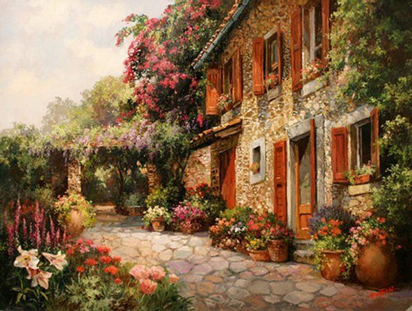 Paul Guy Gantner 1948 ~ Landscape painter | Tutt'Art@ | Pittura * Scultura * Poesia * Musica |