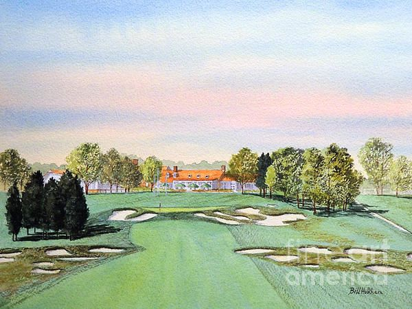 Prints of this Bethpage Golf Course painting by Bill Holkham are available via this link!