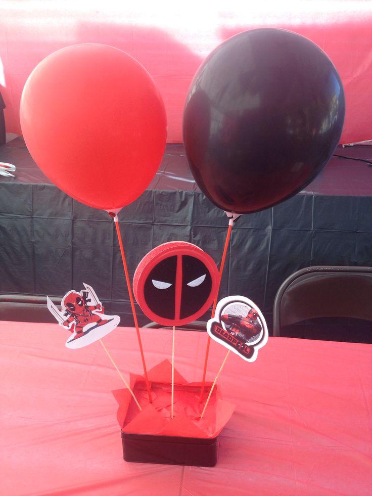 Deadpool Birthday Center Pieces Deadpool Birthday Party